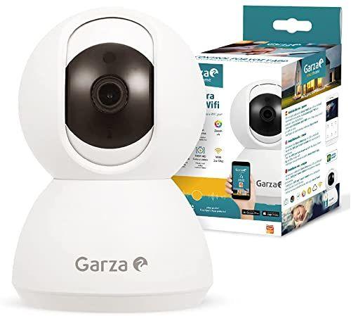 Garza  Smarthome kamera IP WiFi 360, kompatybilna z urządzeniami Alexa z wyświetlaczem i Google Chromecast 720p HD, wbudowanym mikrofonem, noktowizorem i czujnikiem ruchu