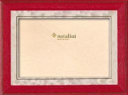 Natalini Marquetry ramka na zdjęcia wyprodukowana we Włoszech, tulipan, czerwona, 12 cm x 18 cm