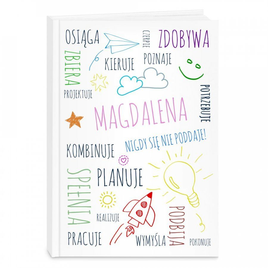 Planner kalendarz książkowy z nadrukiem dla grafika
