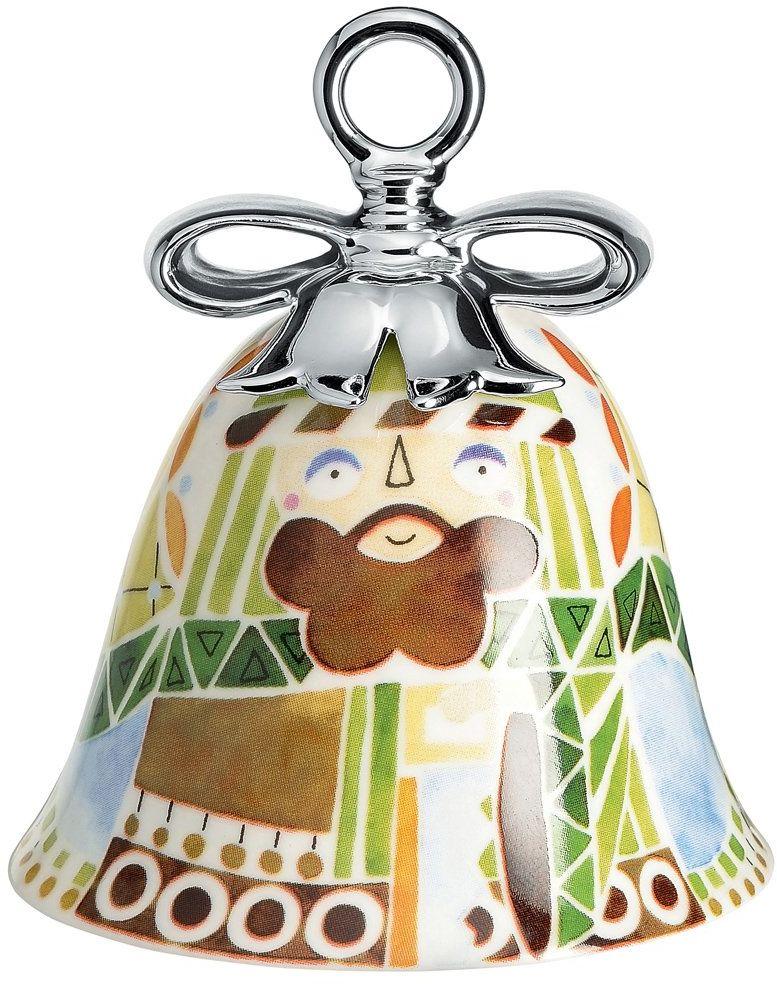 Alessi Porcelana bożonarodzeniowa, wielokolorowa, 7,2 x 7,2 x 8,5 cm
