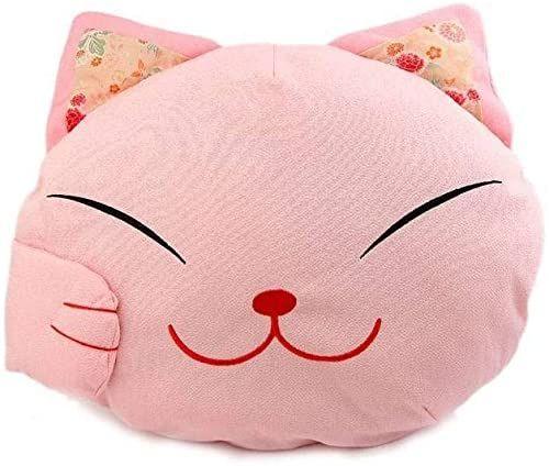 Poduszka design kot japoński  kolor różowy  Maneki Neko