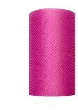 Tiul dekoracyjny fuksjowy 8cm rolka 20m TIU8-080 - 8CM FUKSJOWY