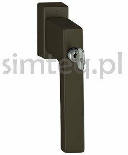 Klamka okienna z kluczem Toulon F8707/brąz - trzpień 32-42 mm