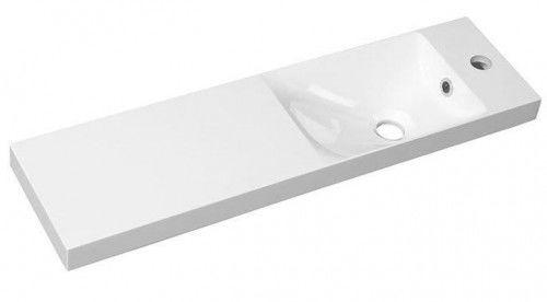 Umywalka 80x22cm z blatem biała kompozytowa, lewa/prawa AGOS
