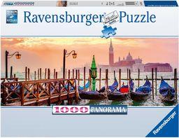 Ravensburger Puzzle 15082 Gondole W Wenecji Panoramiczne 1000 Elementów Puzzle Dla Dorosłych (15082) Unikalne Elementy, Technologia Softclick