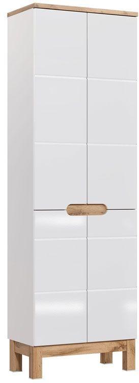 Szafka łazienkowa słupek Marsylia 11X - Biały połysk