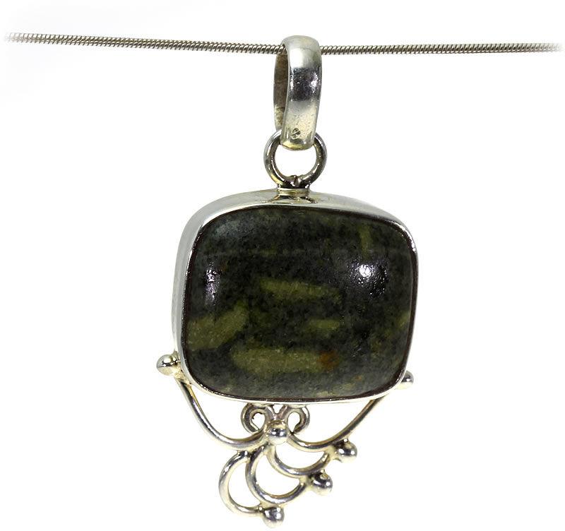 Kuźnia Srebra - Zawieszka srebrna, 45mm, Jaspis, 9g, model