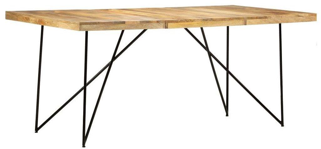 Stół industrialny z drewna mango Namir  naturalny