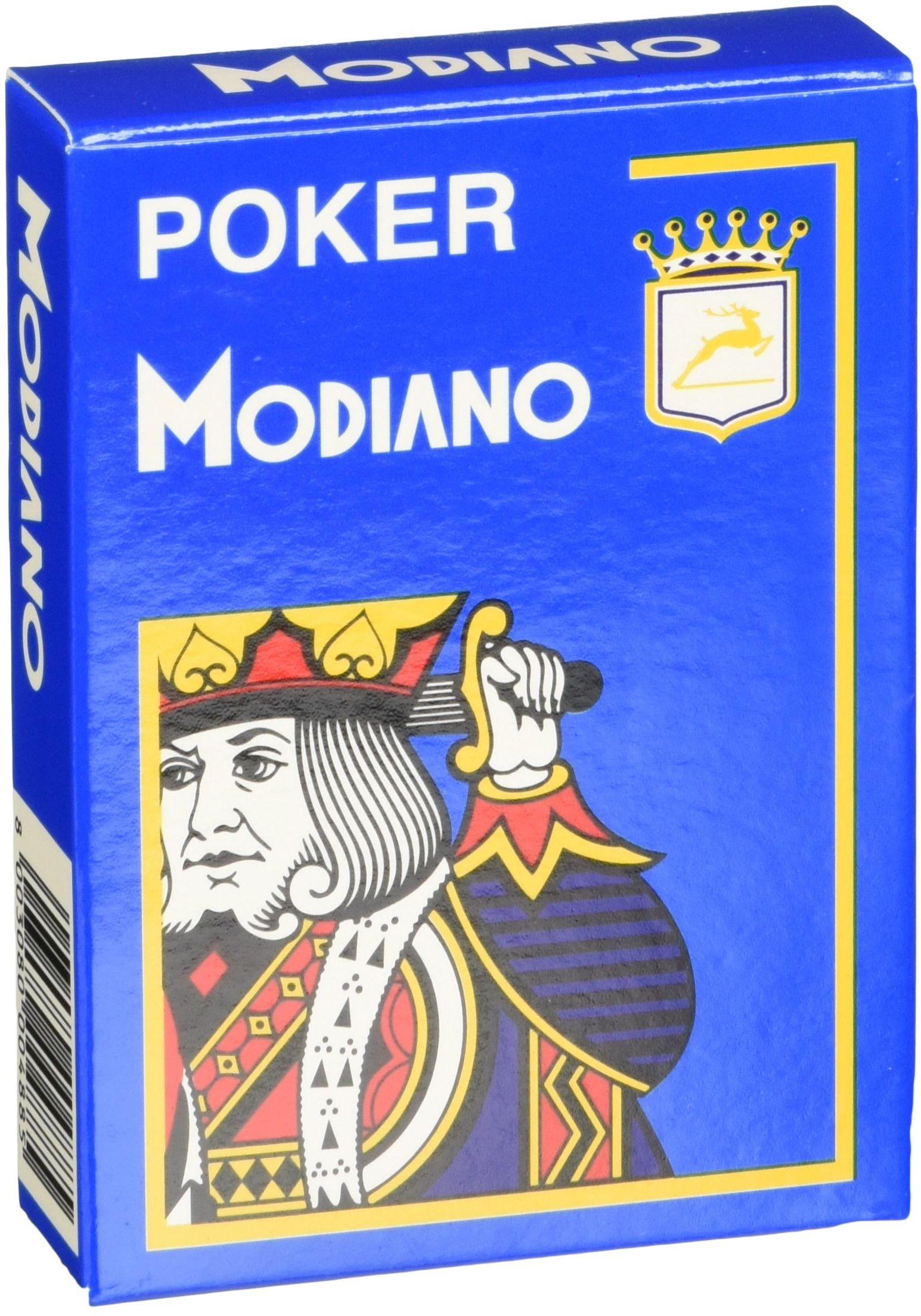 Modiano Karty do gry 488  poker Cristallo, 4 wskaźniki jasnoniebieskie