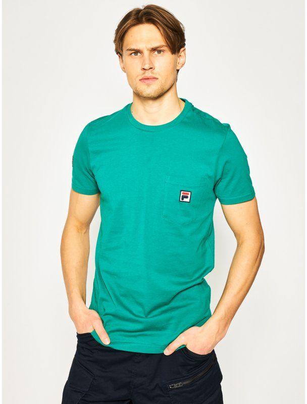 Fila T-Shirt Taren 687714 Zielony Regular Fit