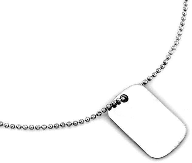 Srebrny naszyjnik 925 nieśmiertelnik kulkowy łańcuszek 4,99 g
