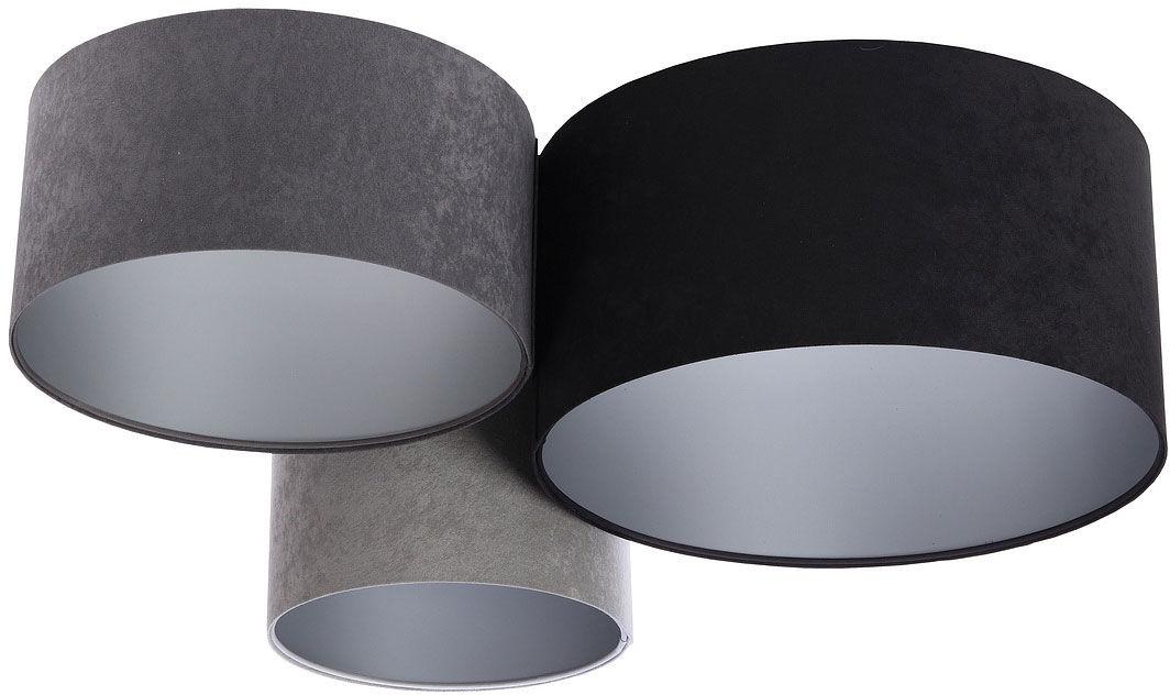 Trójkolorowa plafoniada ze srebrnym wnętrzem abażura - EXX45-Balfis