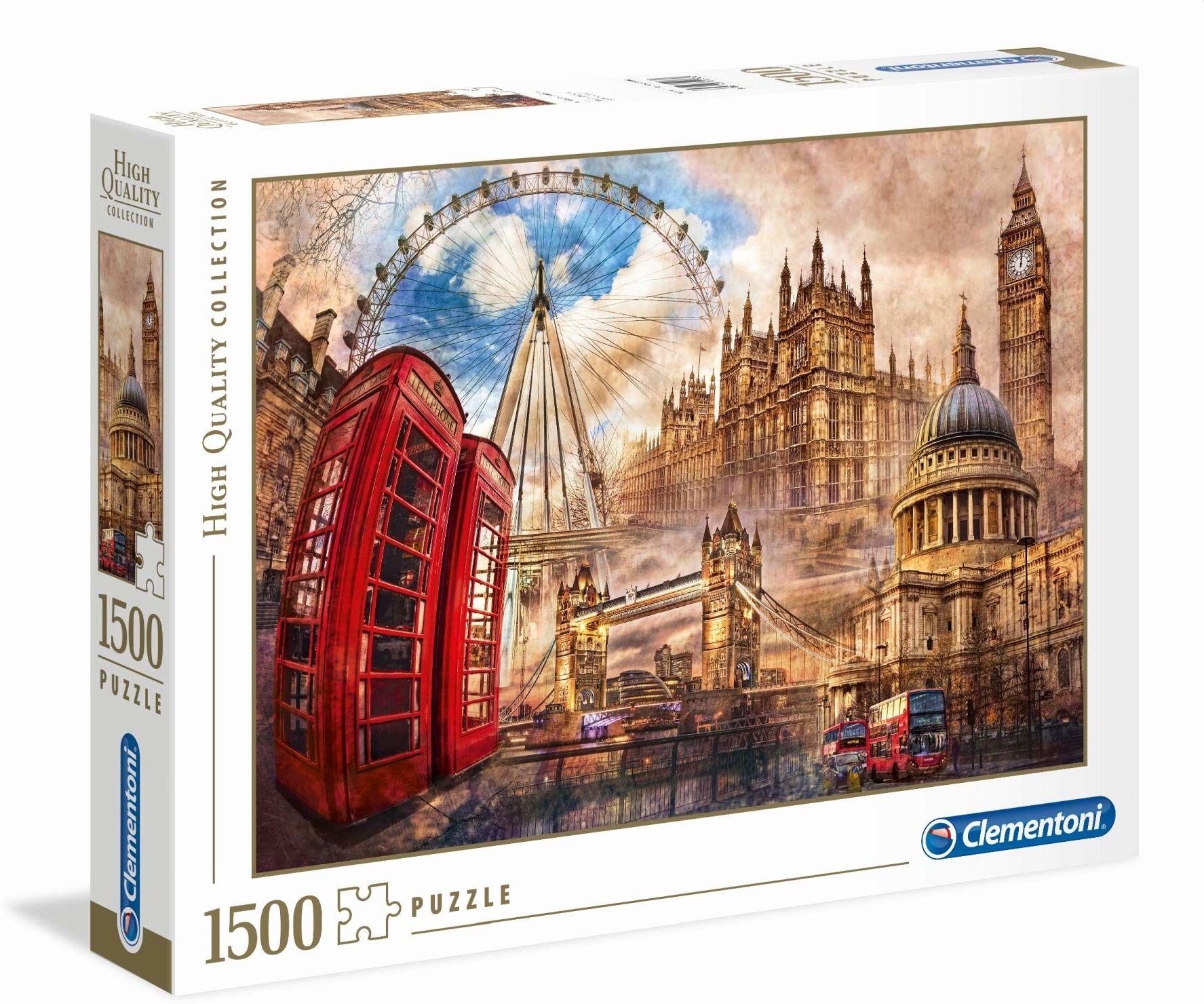 "Clementoni 31807"" Stare Londyn Puzzle 1500 części High Quality Collection"