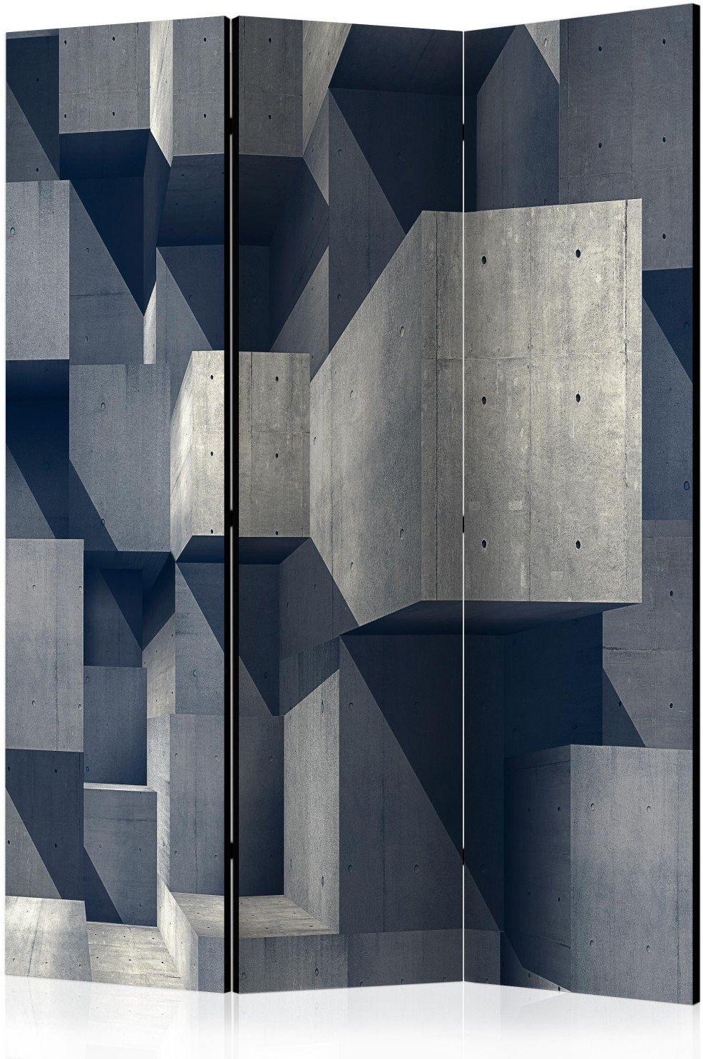 Parawan 3-częściowy - betonowe miasto [room dividers]