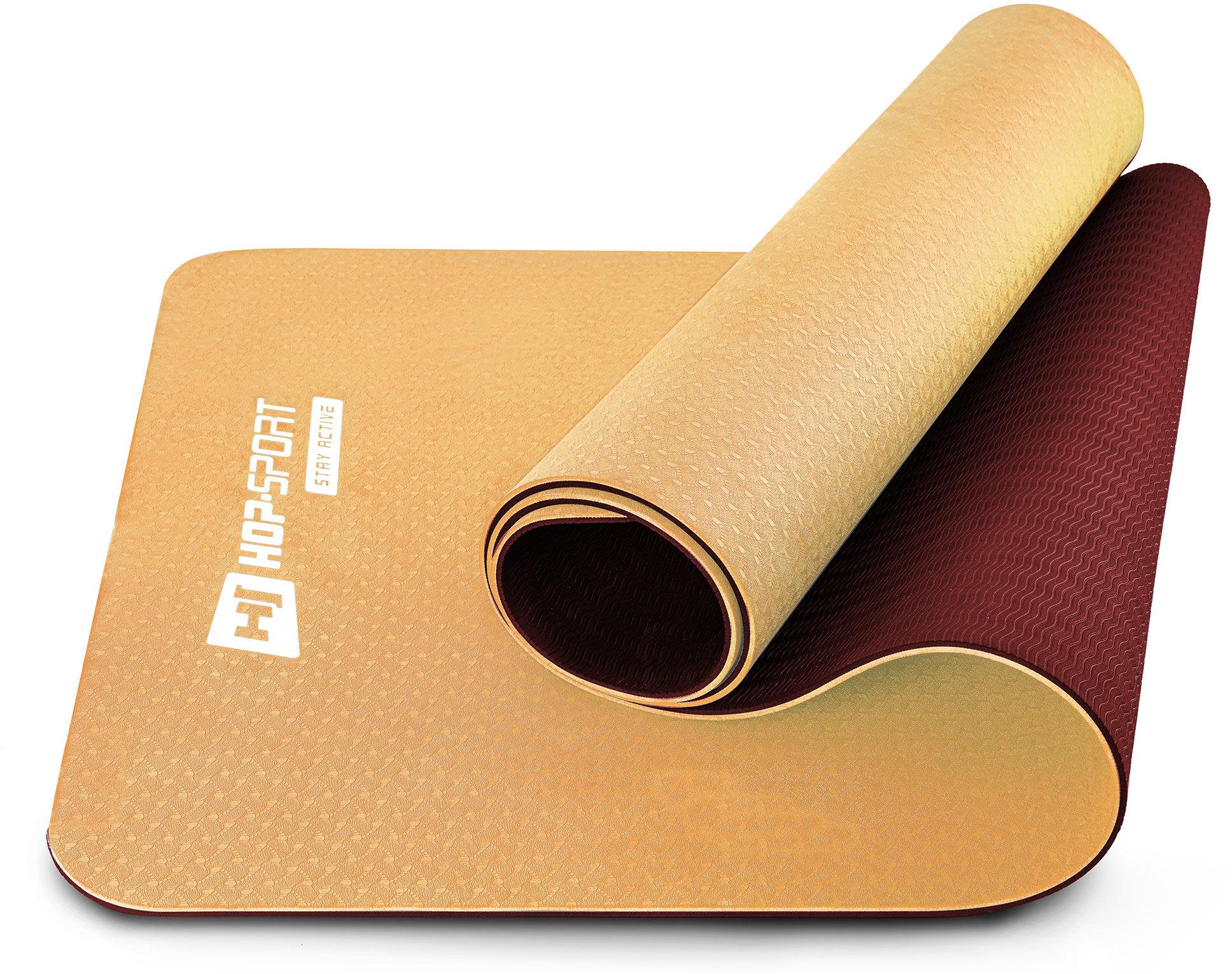 Mata fitness TPE 0,6cm pomarańczowo/czerwona