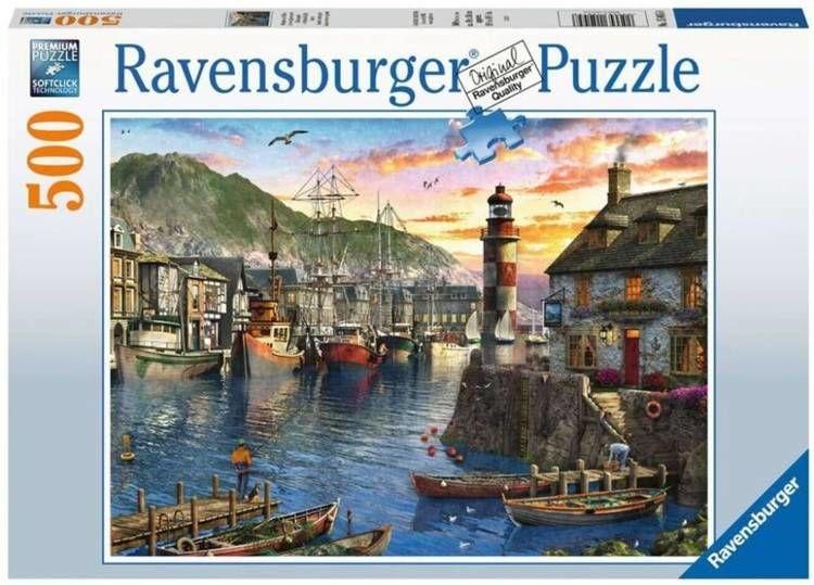 Puzzle 500 Poranek w porcie - Ravensburger