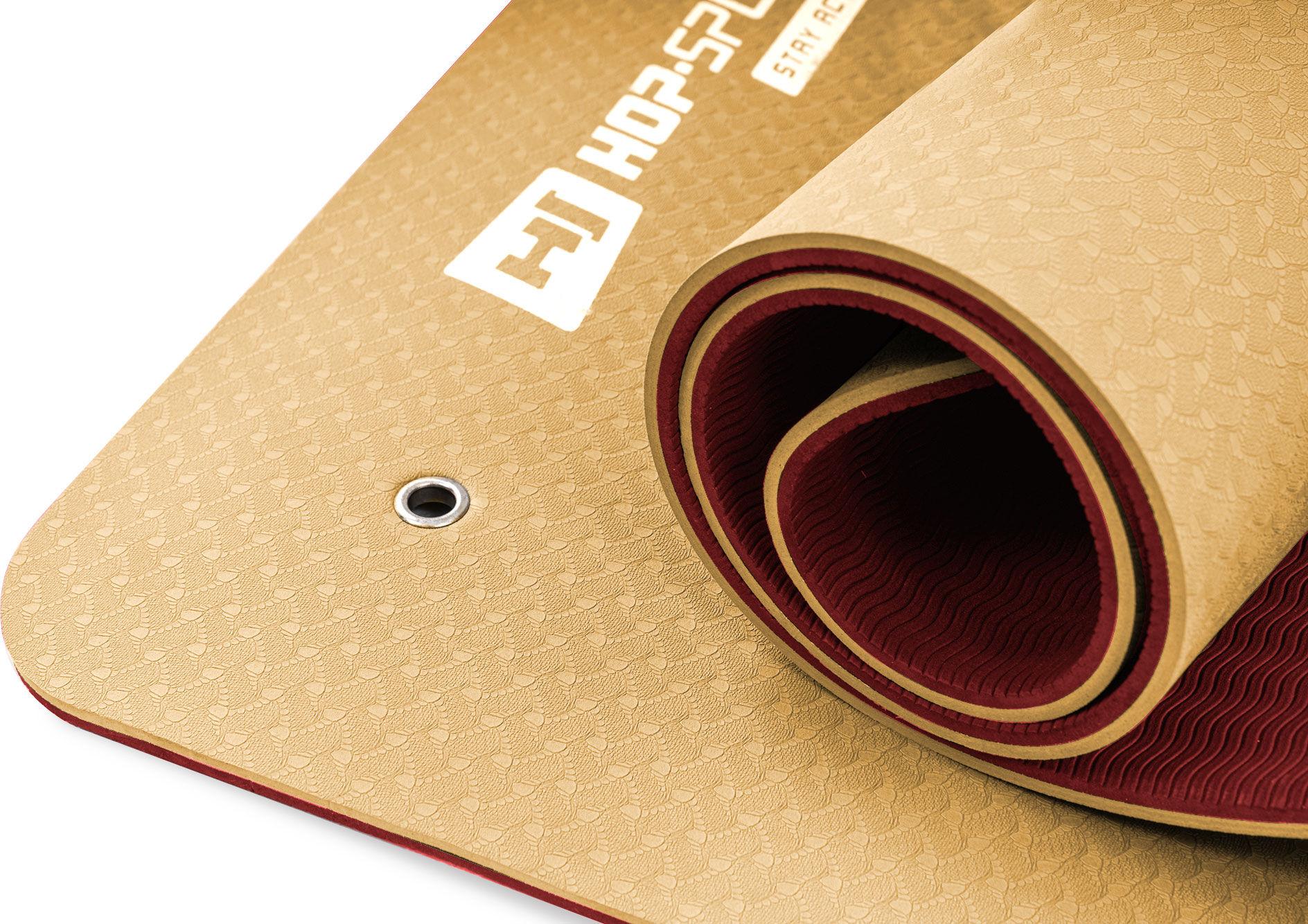 Mata fitness z otworami TPE 0,8cm pomarańczowo/czerwona