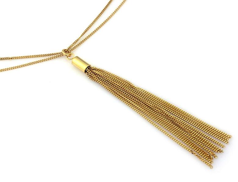Srebrny naszyjnik 925 pozłacany łańcuszki chwost 6,36 g