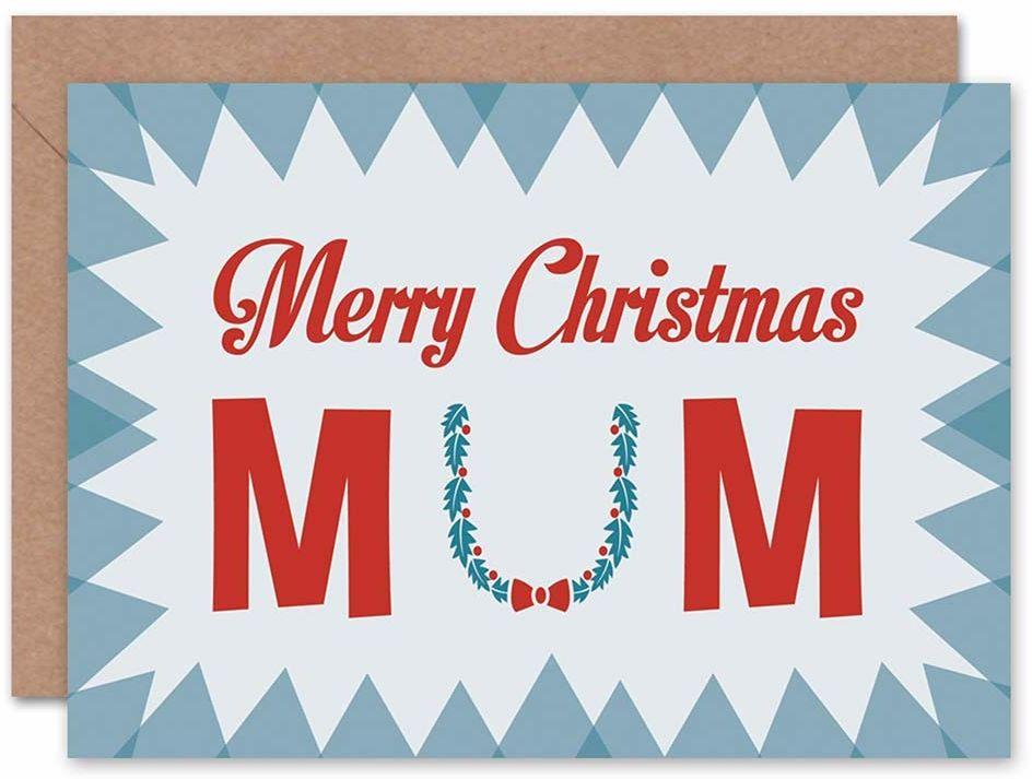 Wee Blue Coo Kartka Boże Narodzenie Boże Narodzenie MERRY MUM MATKA WREATH PREZENT