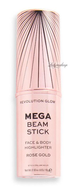 MAKEUP REVOLUTION - MEGA BEAM STICK - FACE & BODY HIGHLIGHTER - Rozświetlacz do twarzy i ciała w sztyfcie - Rose Gold