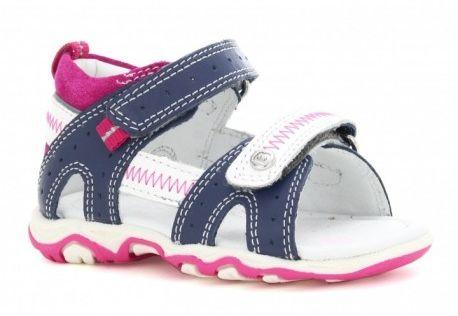 Bartek 71824 1NS sandały sandałki dziewczęce niebiesko-biało-różowe