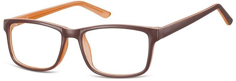 Okulary Zerówki klasyczne oprawki Sunoptic CP155B brazowo-kremowe
