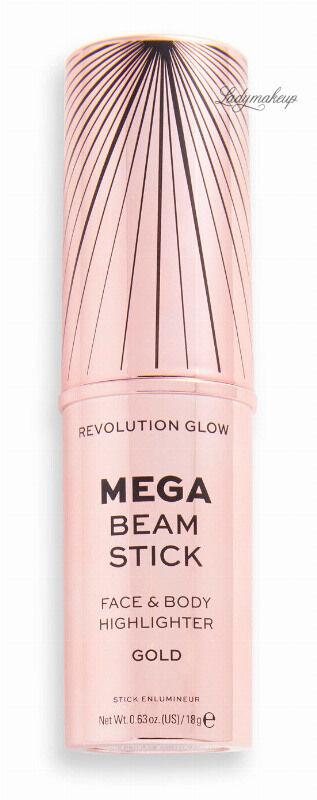MAKEUP REVOLUTION - MEGA BEAM STICK - FACE & BODY HIGHLIGHTER - Rozświetlacz do twarzy i ciała w sztyfcie - Gold