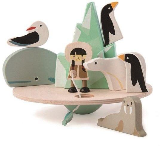 tender leaf toys - Drewniana Gra Zręcznościowa - Balansujący Biegun Polarny, Tender Leaf Toys