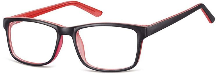 Okulary Zerówki klasyczne oprawki Sunoptic CP155C czarno-rozowe