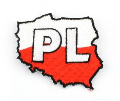 Naszywka haftowana. kontur Polski
