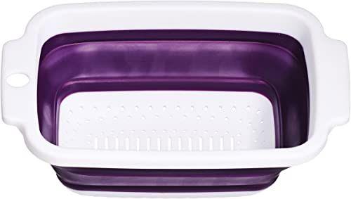 Premier Housewares Zing Durszlak, 23 cm - fioletowy/biały