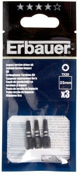 Bity udarowe Erbauer 25 mm TX20 3 szt.