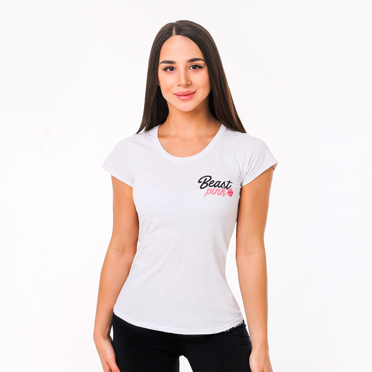 BeastPink Damska koszulka BeastPink White