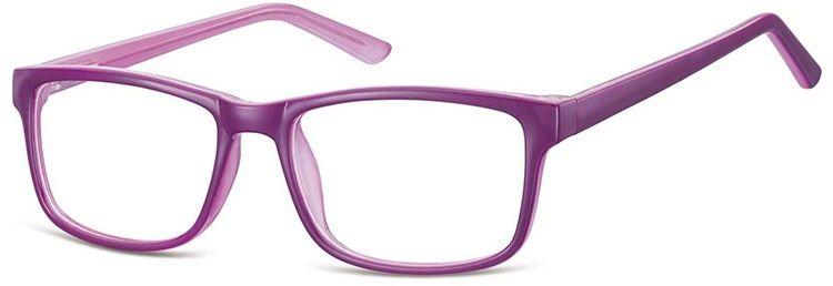 Okulary Zerówki klasyczne oprawki Sunoptic CP155E fioletowe