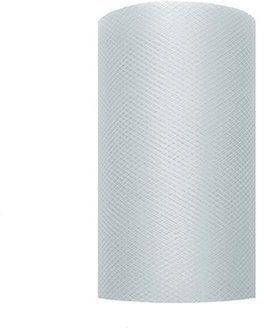 Tiul dekoracyjny szary 8cm x 20m 1 rolka TIU8-091