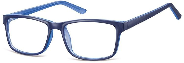 Okulary Zerówki klasyczne oprawki Sunoptic CP155F niebieskie