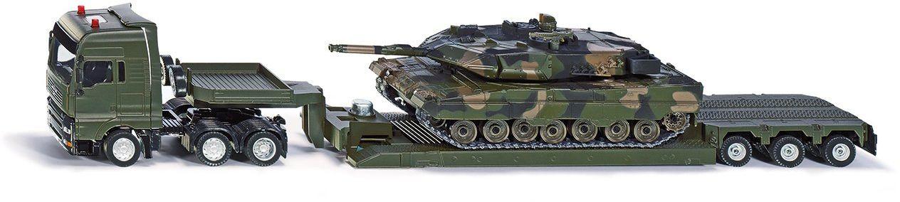 Siku 8612 - Transporter wojskowy ze czołgiem, pojazdem