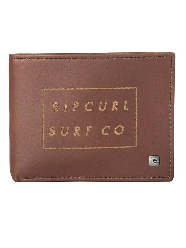 Rip Curl SURF CO ALL DAY brown mężczyzna luksusowy portfel