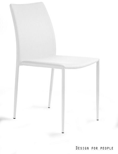 UNIQUE Krzesło DESIGN - TKANINA PVC