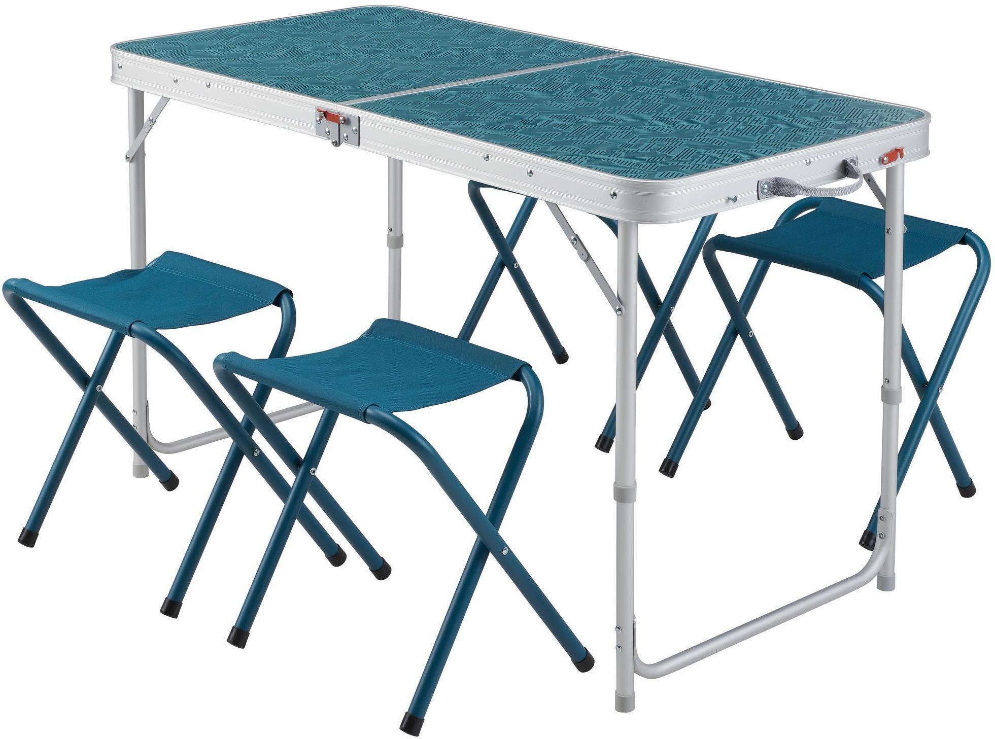 Stół kempingowy składany + 4 taborety 4-6 osób
