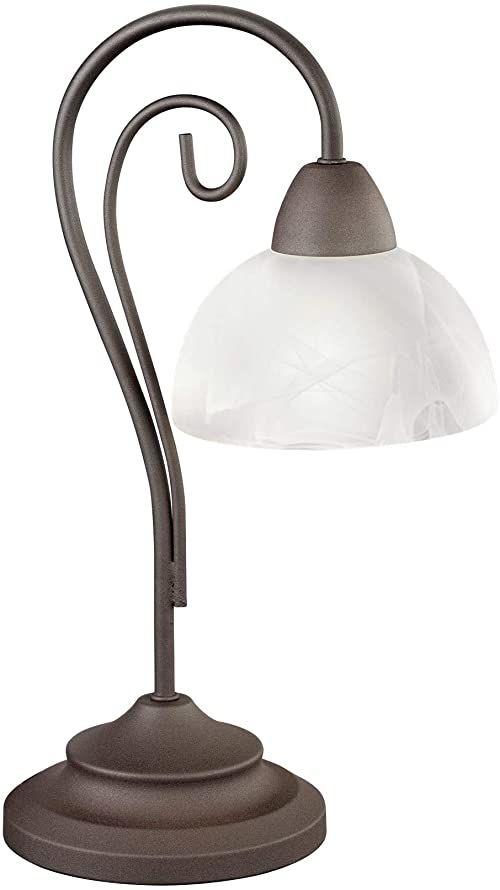 Reality Lampa stołowa wiejska, antyczna krzywa E14, rdza, metal