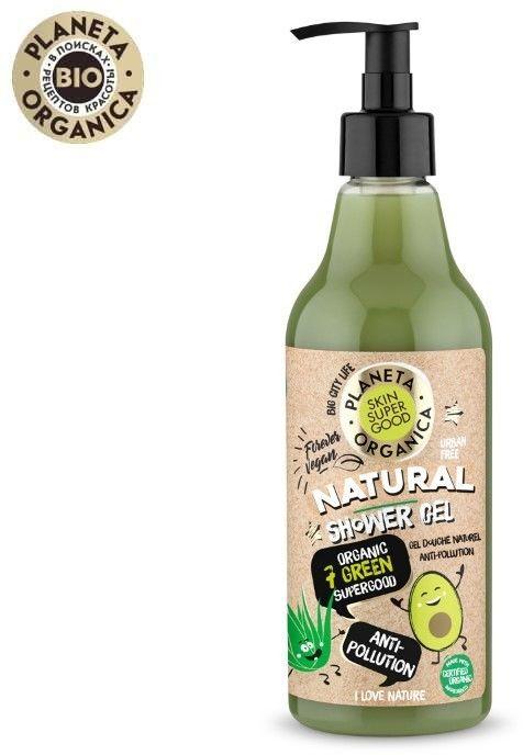 Planeta Organica Żel pod prysznic odświeżająco-odżywczy Anti-Pollution - 500 ml