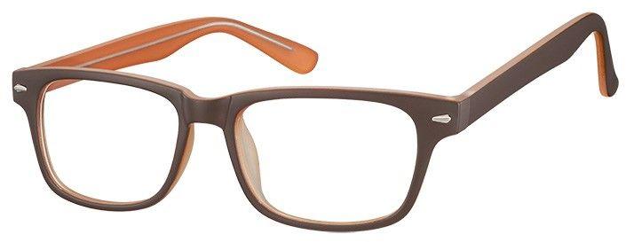 Okulary Zerówki klasyczne oprawki Sunoptic CP156B brązowe