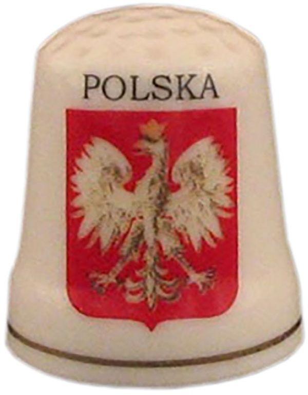 Naparstek ceramiczny - Polska, orzeł