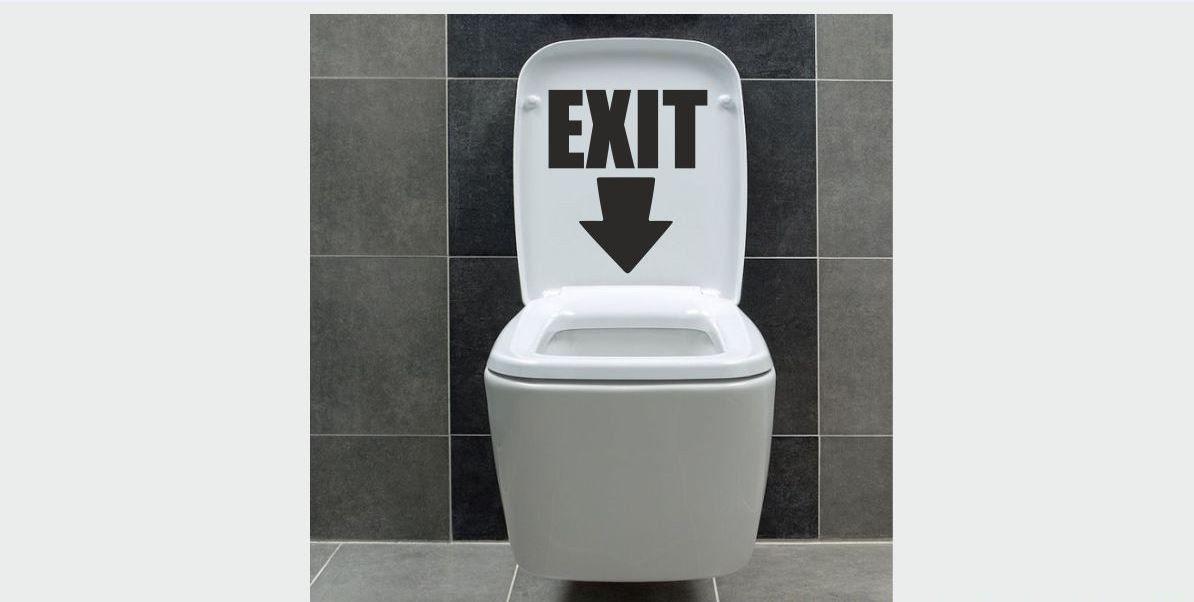 Naklejka do łazienki Exit