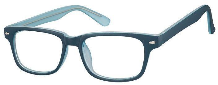 Okulary Zerówki klasyczne oprawki Sunoptic CP156C niebieskie