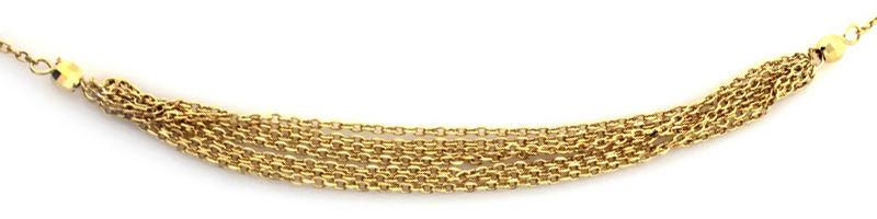 Srebrny naszyjnik 925 pozłacane subtelne łańcuszki 2,51 g