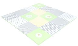 MAMO-TATO Mata podłogowa do raczkowania dla dzieci 160x160 Zielona