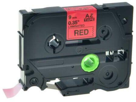 Brother TZe-V421, 9mm x 5,5m, czarny druk / czerwony podkład, vinyl, taśma zamiennik