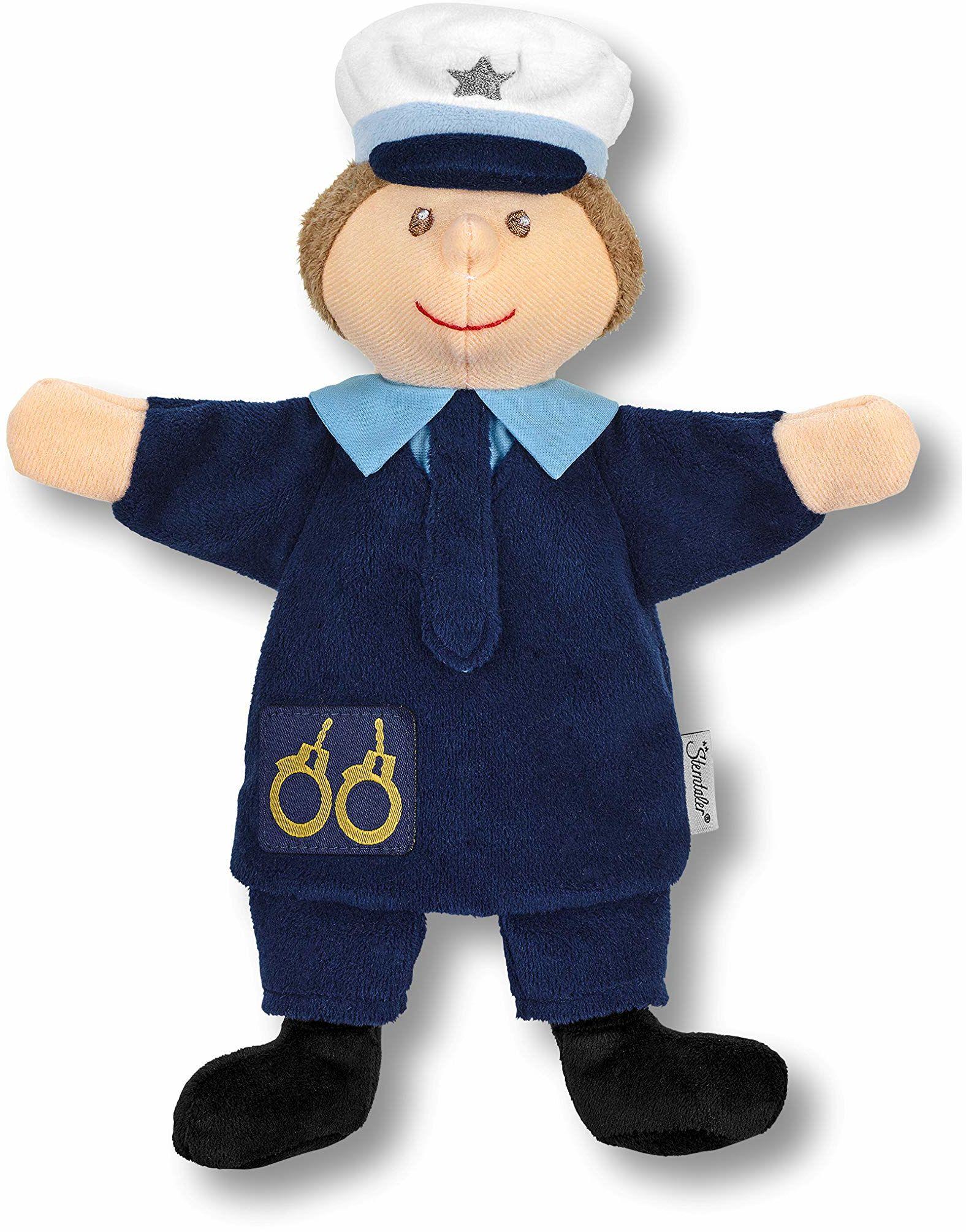 Dziecięca pacynka policjant